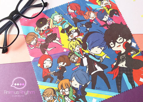 Persona 5 & 3 DANCE Microfiber Cloth 7.5"