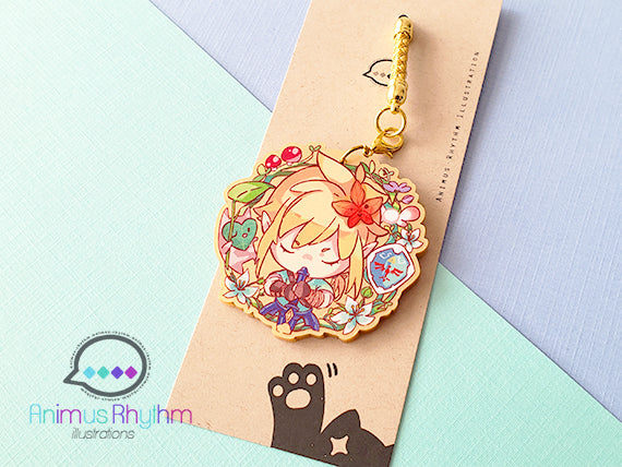 Golden Acrylic strap charm: Zelda Breath of the Wild 2 inch
