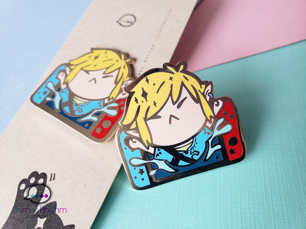 Zelda Breath of the Wild Link Switch Hard Enamel Pin game