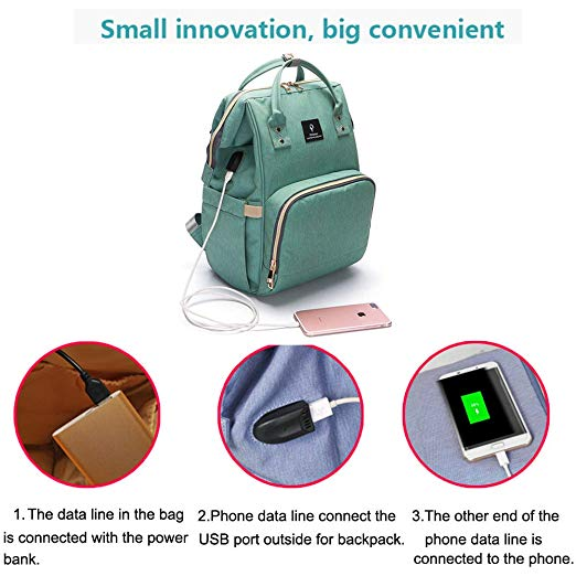 BABY DIAPER BAG with USB Charging Port