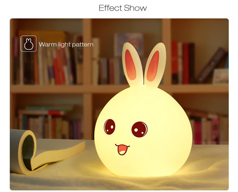 Bunny-Bo Led Night Light with Touch Sensor Tap Control