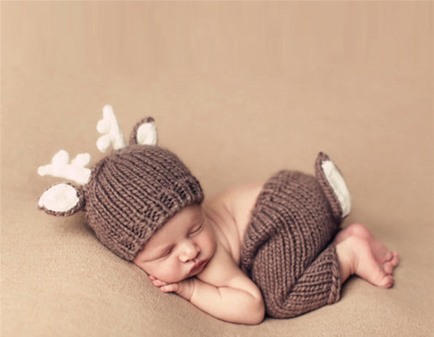 Cocoa Hand Knitting  Newborn Outfit