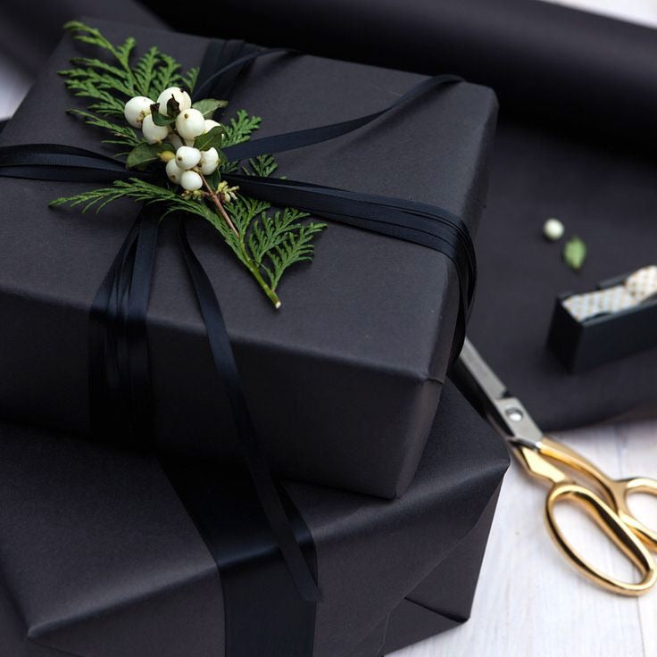 Black Kraft Paper Gift Wrapping