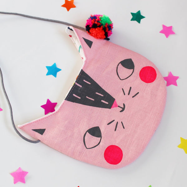 Pink Confetti Cats Bag