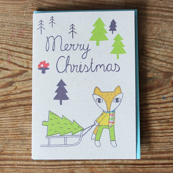 SALE! Woodland Winterland Fox Christmas Card