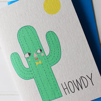 Howdy Greetings Card