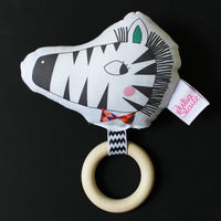 Zebra Rattle Teether