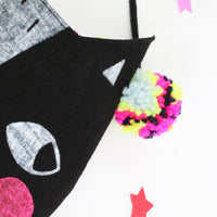 Confetti Cats Bag - black