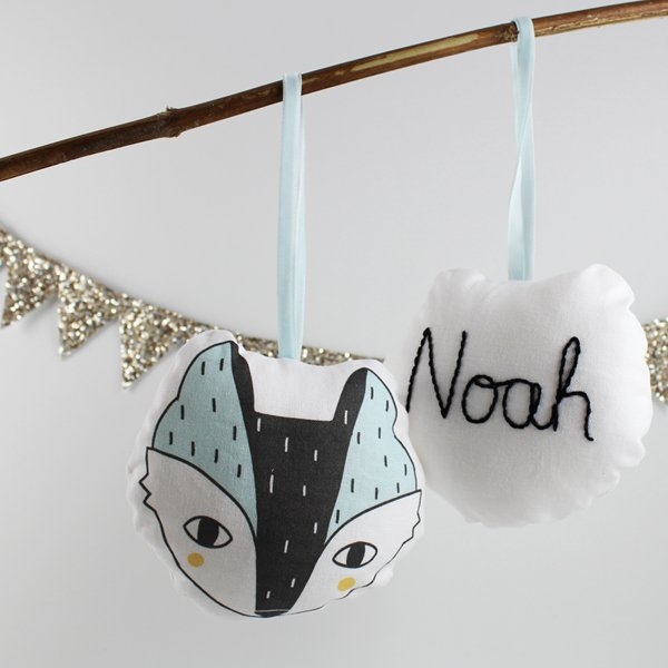 Personalised Wolf Decoration