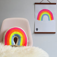Rainbow Screen Printed Poster