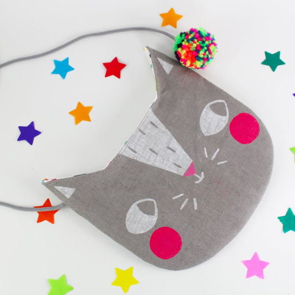 Grey Confetti Cats Bag