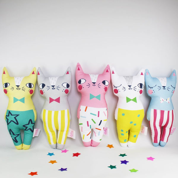 Set of 5 Confetti Cats