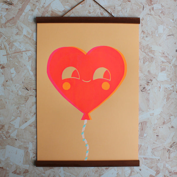 Happy Balloon Screen Printed Poster