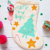 Merry And Bright Christmas Stocking