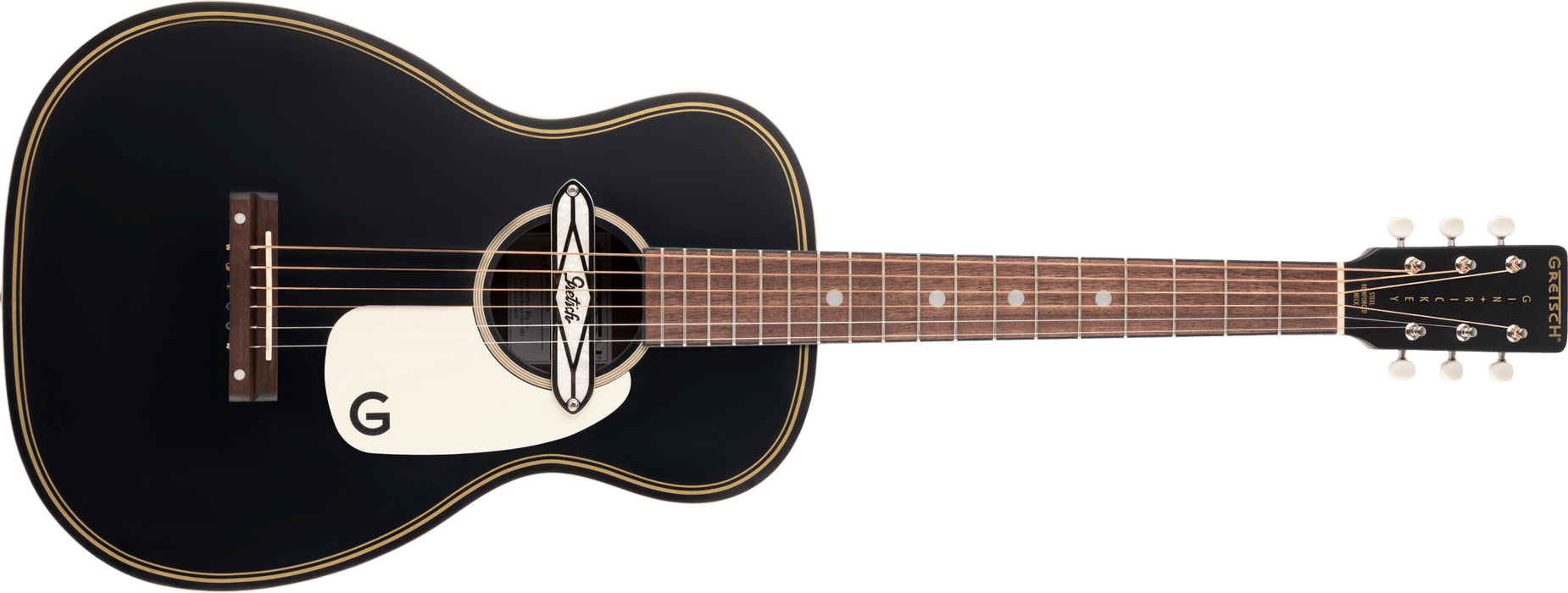 Gretsch G9520E Gin Rickey Electro Acoustic with Soundhole Pickup, Walnut Fingerboard, Smokestack Black