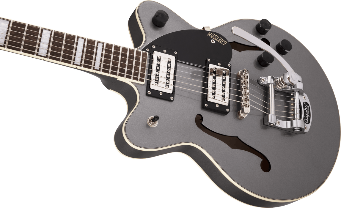 G2655T Streamliner™ Center Block Jr. with Bigsby®, Broad'Tron™ BT-2S Pickups, Laurel Fingerboard, Phantom Metallic