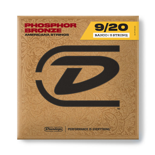Jim Dunlop DJP0920 Phosphor Bronze 5 String Set Banjo Strings