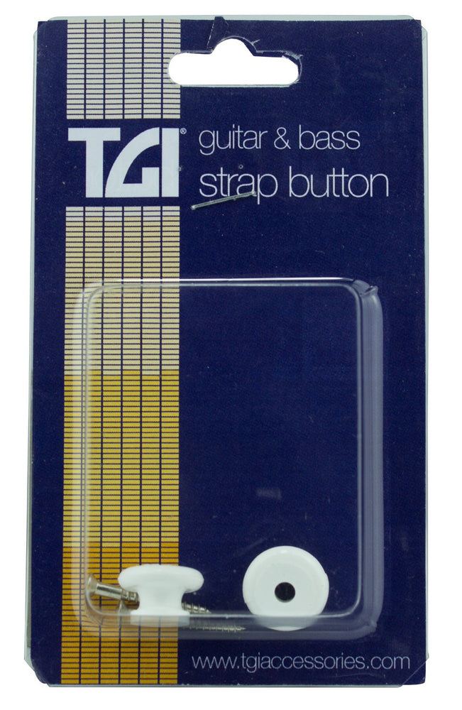 TGI Guitar Strap Buttons - White Plastic (2 Pack)