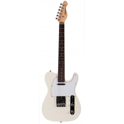 Aria 615 Frontier T Style Electric Guitar - Ivory
