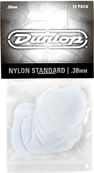 Dunlop Players Pick 12 Pack - Nylon Standard .38MM