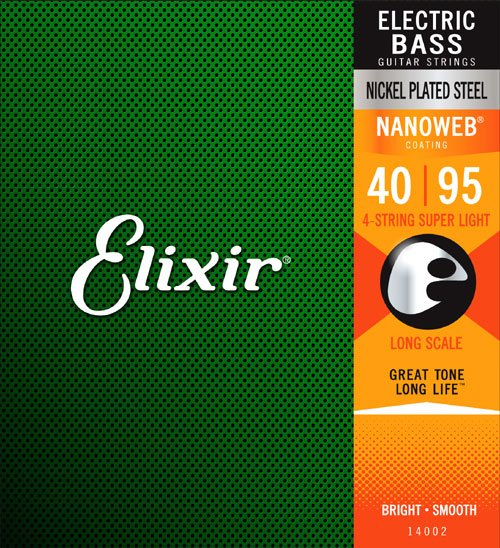 Elixir 14002 Nanoweb, Super Light Long Scale 40-95