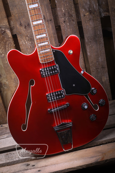 2016 Fender Coronado II Modern Player Candy Red Electric Guitar - Pre-owned