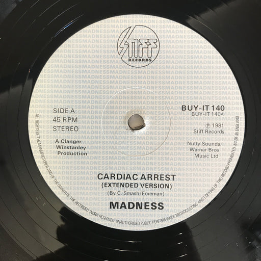 "Madness ‎– Cardiac Arrest 1981 (Extended 12"" Version) Vinyl Record"
