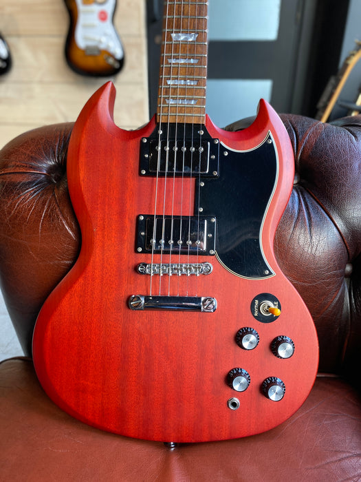 2007 Epiphone SG 400 in Satin Cherry Red