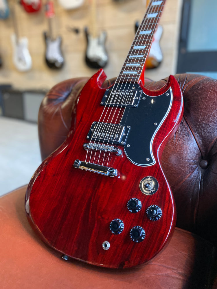 Vintage SG VS6 Electric Guitar in Cherry Red