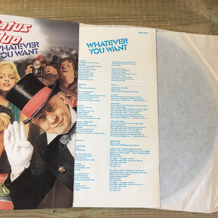 Status Quo Whatever You Want 1979 Vinyl Record - Pre-owned