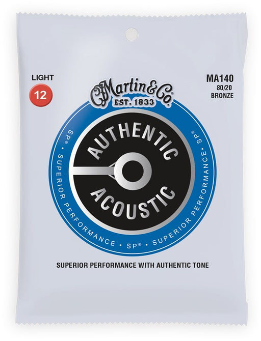 Martin & Co. MA140 12-54 Acoustic Guitar Strings - Bronze Light