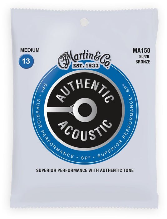 Martin & Co. MA150 13-56 Acoustic Guitar Strings - Bronze Medium