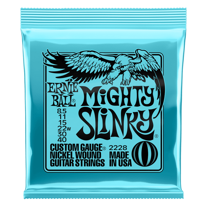 Ernie Ball Mighty Slinky Electric Guitar Strings 8.5-40