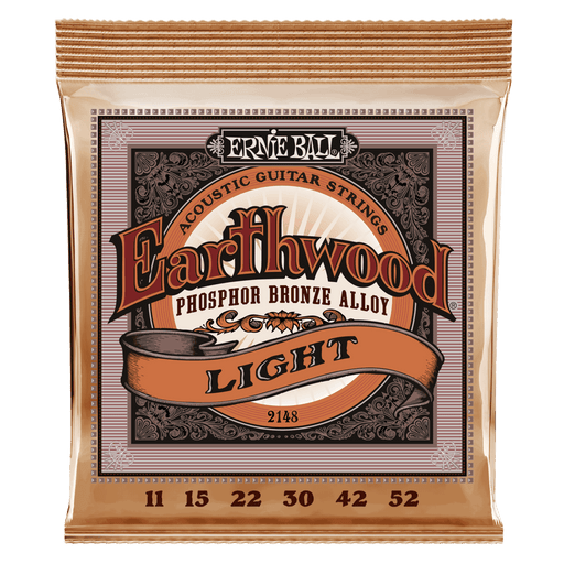 Earthwood Light Phosphor Bronze Acoustic Strings - 11-52 Gauge