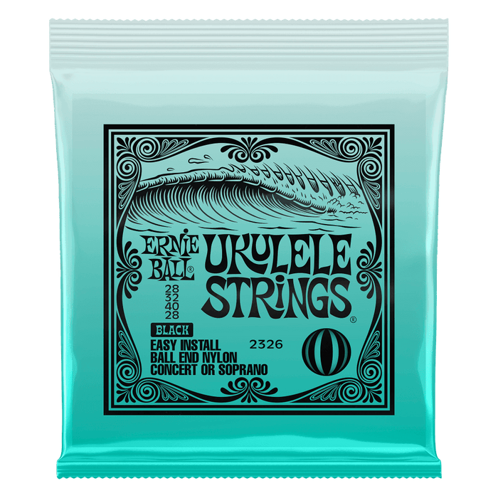 UKULELE BALL END NYLON STRINGS BLACK - Soprano/Concert