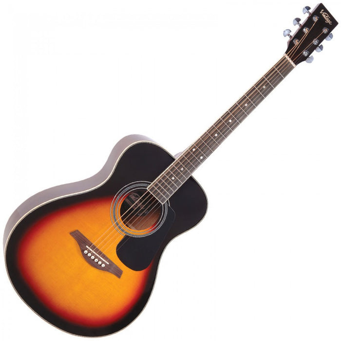 Vintage Acoustic Guitar V300 Vintage Sunburst *Pro Setup by us! - Our Best Seller!
