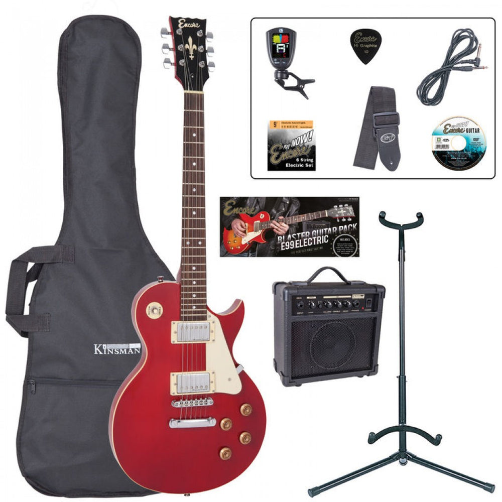 Encore E99 Electric Starter Guitar Pack - Wine Red