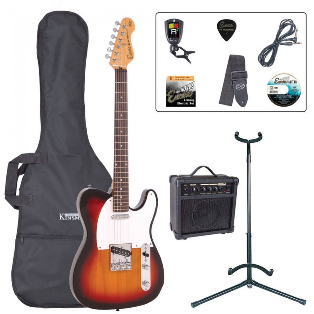 Encore E2 Electric Starter Guitar Pack - Sunburst
