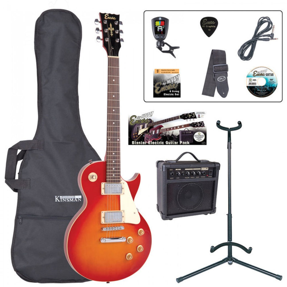 Encore E99 Electric Starter Guitar Pack - Cherry Sunburst