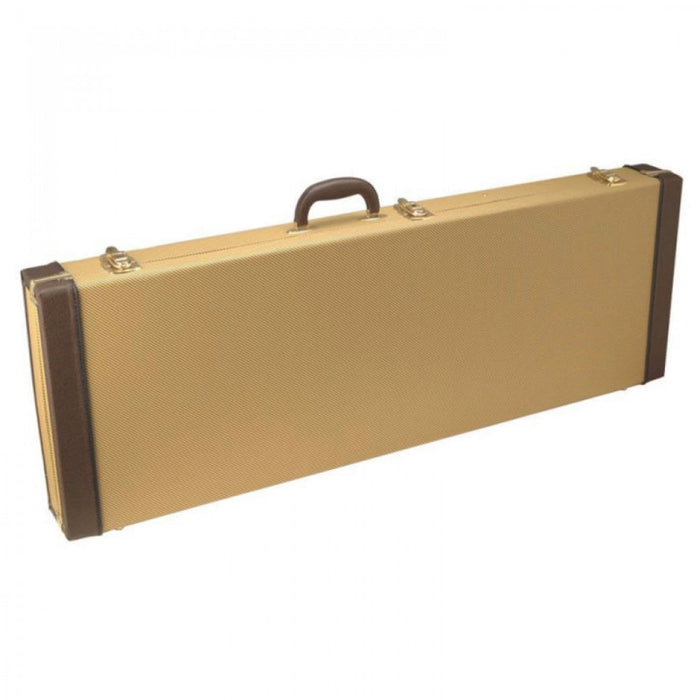 ON STAGE OBLONG HARDSHELL ELECTRIC GUITAR CASE ~ TWEED