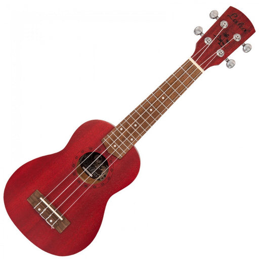 Laka Soprano Acoustic Ukulele & Bag - Red