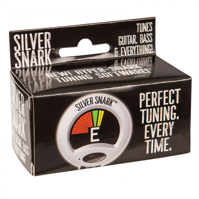 Snark SIL-1 Clip-On Tuner with Metronome for Guitar, Bass, Ukulele, Banjo, Violin. - Silver