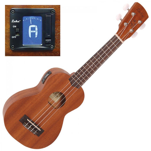 Laka Soprano Acoustic Ukulele with Tuner VUS50 - Solid Top
