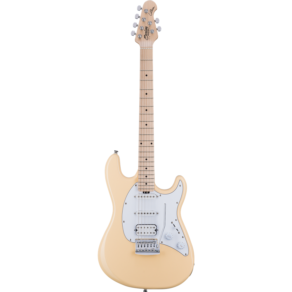 Sterling CT30HSS Cutlass HSS Electric Guitar - Vintage Cream
