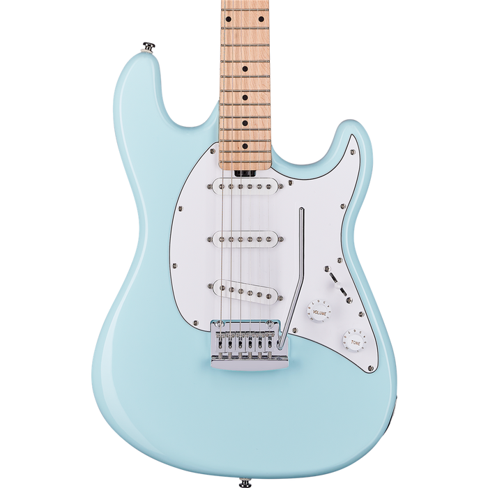Sterling CT30SSS Cutlass SSS Electric Guitar - Daphne Blue MN