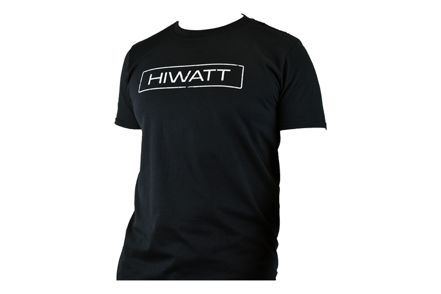 Hiwatt Distressed Logo Tee Black