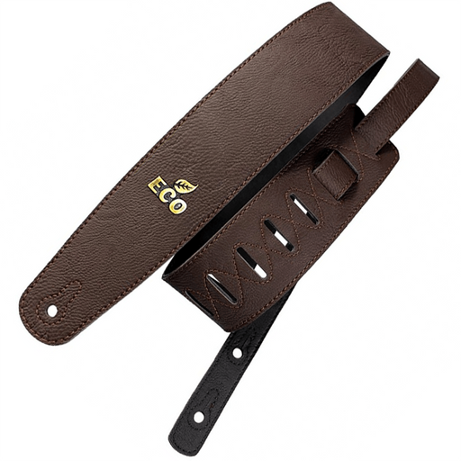 Ecostrap Vegan Premium Guitar Strap Brown