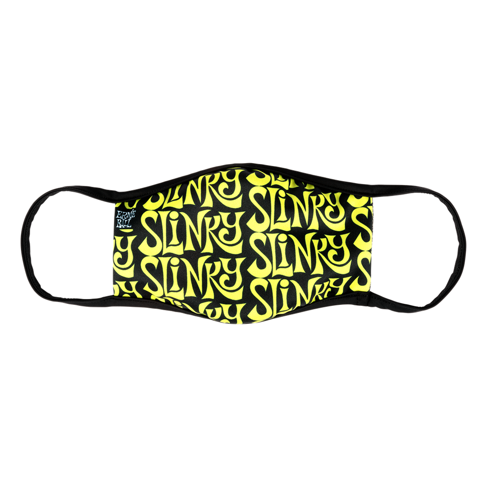 Official Ernie Ball Face Mask Green Slinky Logo - Adult