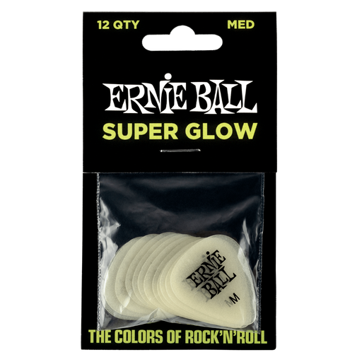 Ernie Ball Pick Pack Super Glow Medium ( Pack of 12 )