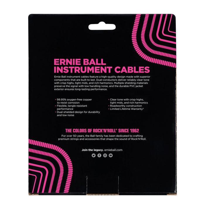 Ernie Ball Coil Cable SS 30ft - Black